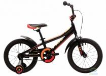 """Велосипед Pride TIGER 16"""" черный/красный/жёлтый"""