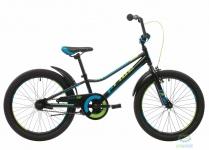 """Велосипед Pride JACK 20"""" черный/синий/лайм 2018"""